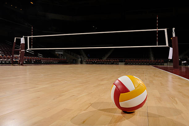 Volleyball+on+Wood+Floor